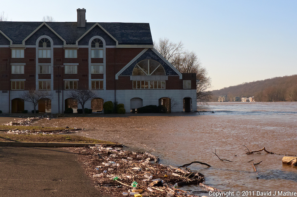 Delaware River -- Flood Stage. Lambertville Inn. Image taken with a Leica D-Lux 5 (ISO 100, 10.7 mm, f/4, 1/800 sec).