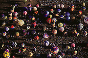 Gathering of hot air balloons, Albuquerque, New Mexico, USA.