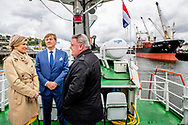 CORK - King Willem-Alexander and Queen Maxima on the boat to Cobh during their visit to Ireland. robin utrecht