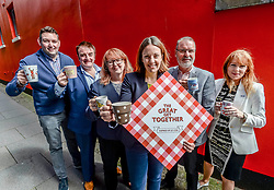 Labour MSP Kezia Dugdale took part in 'The Great Get Together' in memory of murdered MP Jo Cox, joined by fellow MSP's Myles Briggs (Conservatives), Ash Denham (SNP) and Deirdre Brock (SNP) as well as MP Tommy Shepherd (SNP) and councillor Gavin Barrie (Edinburgh City Council, independent) at the Serenity Cafe in Edinburgh.<br /> <br /> © Dave Johnston/ EEm