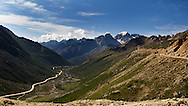 The Northern Sichuan-Tibet Highway, just at the Tro La (Chola) Pass at nearly 6000m (19,6850ft).