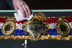 March 3, 2016 - London, London, UK - A replica belt worn by Muhammed Ali after he won a fight against  Sonny Liston in 1964. The belt features in the  I Am The Greatest  - Muhammad Ali Exhibition.  Exhibition featuring more than 100 artefacts from the boxer's career, put together with the help of the Ali family, showcased to celebrate the life of the former heavyweight champion giving an insight into one of the sport's most famous personalities. London, UK. (Credit Image: © Ray Tang/London News Pictures via ZUMA Wire)