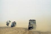 Journey in 4-wheel drive vehicles through the Sahara Desert in Upper Volta, now re-named Burkina Faso