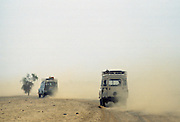Journey in 4-wheel drive vehicles through the Sahara Desert in Upper Volta, now re-named Burkina Faso