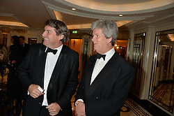 Left to right, CHARLIE BROOKS and GUY SANGSTER at the 26th Cartier Racing Awards held at The Dorchester, Park Lane, London on 8th November 2016.