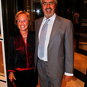 NLD/Amsterdam/20100911 - Modeshow Mart Visser najaar 2010, Nina Brink en partner Pieter Storms