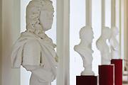 Schlossmuseum Pillnitz, Büste August der Starke, Dresden, Sachsen, Deutschland.|.Pillnitz Castle Mueseum, bust of August der Starke, Dresden, Germany