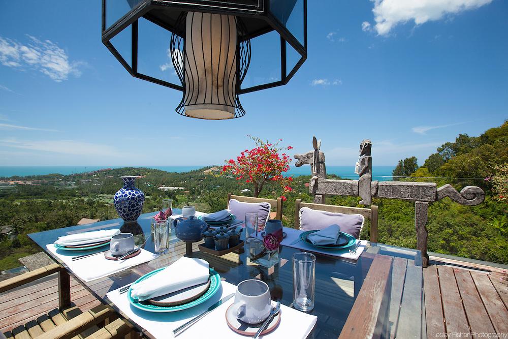 Outdoor dining at Villa Belle a Luxury, private villa on Koh Samui, Thailand