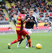 Partick Thistle&rsquo;s Abdul Osman and Dundee's Nick Ross - Partick Thistle v Dundee, Ladbrokes Premiership at Firhill<br /> <br />  - &copy; David Young - www.davidyoungphoto.co.uk - email: davidyoungphoto@gmail.com