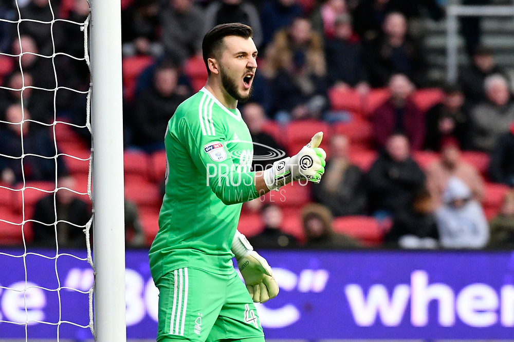 Jordan Smith (43) of Nottingham Forset during the EFL Sky Bet Championship match between Bristol City and Nottingham Forest at Ashton Gate, Bristol, England on 16 December 2017. Photo by Graham Hunt.