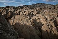 Badlands in the Anza-Borrego Desert, California.