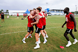 Andreas Weimann celebrates during a head tennis session in the afternoon of day 5 - Rogan/JMP - 15/07/2019 - IMG Academy, Bradenton - Florida, USA - Bristol City Pre-Season Tour Day 5.