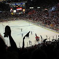 Detroit Red Wings playoff game at Joe Louis Arena in Detroit, Michigan.