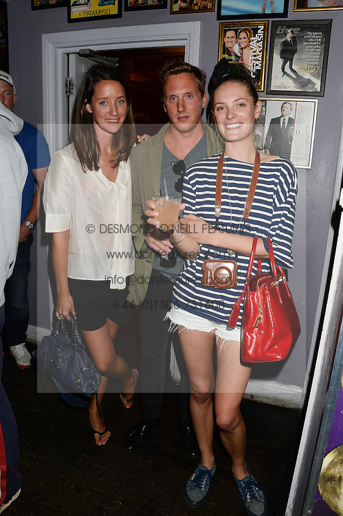 Left to right, INDIA LANGTON, HARRY BECHER and LEAH DE WAVRIN at the Weigh In Party for the upcoming Boodles Boxing Ball held at Bunga Bunga, Battersea Bridge Road, London on 5th September 2013.