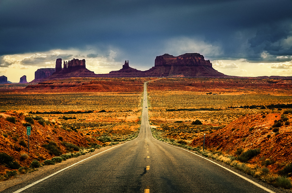 Highway 163 from Mexican Hat to Monument Valley