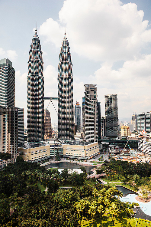 View of Petronas Towers from Traders Hotel, Kuala Lumpur