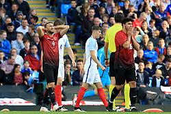 Cenk Tosun of Turkey rues a missed chance - Mandatory byline: Matt McNulty/JMP - 07966386802 - 22/05/2016 - FOOTBALL - Etihad Stadium -Manchester,England - England v Turkey - International Friendly