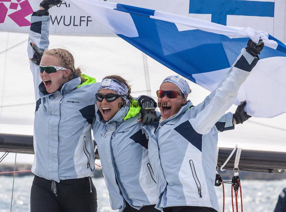 Kanerva Silja, Wulff Mikaela, Lehtinen Silja, (FIN, Match Race)<br /> <br /> 2012 Olympic Games <br /> London / Weymouth