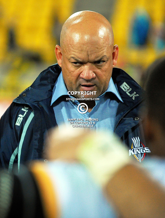 Kings head coach Deon Davids after the Super Rugby match between the Hurricanes and Southern Kings at Westpac Stadium, Wellington, New Zealand on Friday, 25 March 2016. Photo: Dave Lintott / lintottphoto.co.nz