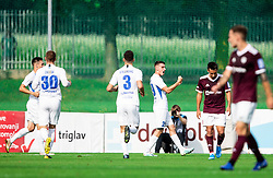 Dario Vizinger of Celje celebrates after scoring second goal during football match between NK Triglav and NK Celje in 7th Round of Prva liga Telekom Slovenije 2019/20, on August 25, 2019 in Sports park, Kranj, Slovenia. Photo by Vid Ponikvar / Sportida