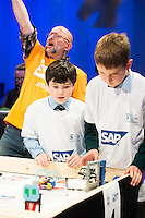 Just under 300 students from 10 counties around Ireland travelled west to take part in the final which ran all day in the Radisson Blu hotel with heightening excitement and tension.  For each of the teams competing, this was the final leg of a challenging and exhilarating journey which saw them complete projects which addressed the huge question: &ldquo;What is The Future of Learning? &ldquo;.<br /> <br /> Photo:Andrew Downes
