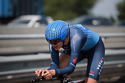 Pernille Mathiesen at Boels Rental Ladies Tour Stage 3 a 16.9 km individual time trial in Roosendaal, Netherlands on August 31, 2017. (Photo by Sean Robinson/Velofocus)