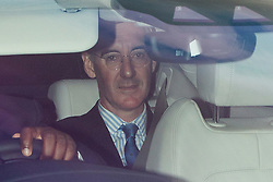 © Licensed to London News Pictures. 05/09/2019. London, UK. Leader of the House of Commons Jacob Rees-Mogg leaves the Houses of Parliament . Photo credit: George Cracknell Wright/LNP