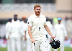 England's Jonny Bairstow walks off after getting out during day two of the Specsavers Third Test match at Trent Bridge, Nottingham.
