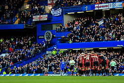 Bournemouth huddle prior to kick off - Mandatory by-line: Jason Brown/JMP - 26/12/2016 - FOOTBALL - Stamford Bridge - London, England - Chelsea v Bournemouth - Premier League