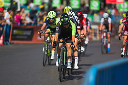 Rossella Ratto (ITA) of Cylance Pro Cycling leads the chase on Stage 2 of the Madrid Challenge - a 100.3 km road race, starting and finishing in Madrid on September 16, 2018, in Spain. (Photo by Balint Hamvas/Velofocus.com)