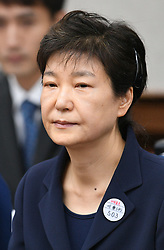 May 23, 2017 - South Korea's former President Park Geun-hye appears at the Seoul Central District Court in Seoul, South Korea, on May 23, 2017. Ousted South Korean President Park Geun-hye on Tuesday appeared in a Seoul court for her first hearing over a set of corruption charges. (Credit Image: © Pool Korea Out/Xinhua via ZUMA Wire)