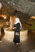 Israel, Isfiya (also known as Ussefiya), is a Druze village and local council Located on Mount Carmel, An Olive Oil stone press in a natural cave