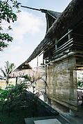 Beach villas made from driftwood