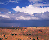 02572 Begashibito Canyon Cow Springs Arizona Navajo Reservation clouds rain vast remote wild