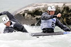 Jure Janezic and Anze Janezic of KKK Tacen compete in the Men's double Canoe C-2 at kayak & canoe slalom race on May 9, 2010 in Tacen, Ljubljana, Slovenia. (Photo by Vid Ponikvar / Sportida)
