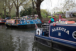 UK ENGLAND LONDON 2MAY16 - London Canal boats  during the Cavalcade at Little Venice, Maida Vale, west London.<br /> <br /> jre/Photo by Jiri Rezac<br /> <br /> © Jiri Rezac 2016