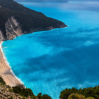 Beautiful location of Mytros beach in Kefalonia island