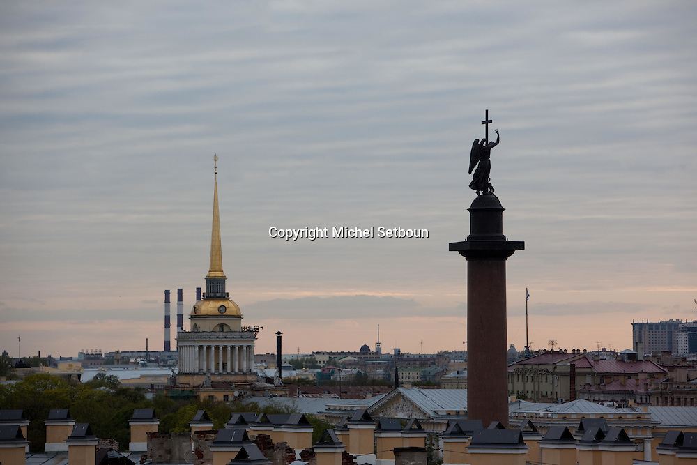 Russia, St Petersburg, high angle general view and rooftop.///.les toits vue d en haut. Saint Petersbourg. Russie