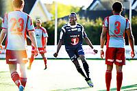 06.04.2014,<br /> Fotball, 1. Divisjon, Adeccoligaen , <br /> Strømmen - Krisitiansund <br /> Karamoko Samba jubler for sin scoring til 3-0<br /> Foto: Sjur Stølen , Fredrikstad Blad