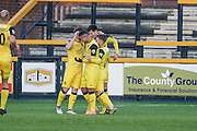 Liam Nolan celebrates  scoring a goal to make it 2-0 Southport during the Vanarama National League match between Southport and Eastleigh at the Merseyrail Community Stadium, Southport, United Kingdom on 17 December 2016. Photo by Pete Burns.