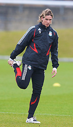 LIVERPOOL, ENGLAND - Thursday, March 20, 2008: Liverpool's Fernando Torres training at Melwood ahead of the Premiership clash with Manchester United on Easter Sunday. (Photo by David Rawcliffe/Propaganda)