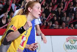 Spela Cerar at handball match at Main round of Champions League between RK Krim Mercator, Ljubljana and CS Oltchim Rm. Valcea, Romania, in Arena Kodeljevo, Ljubljana, Slovenia, on 28th of February 2009. Krim won 35:34.