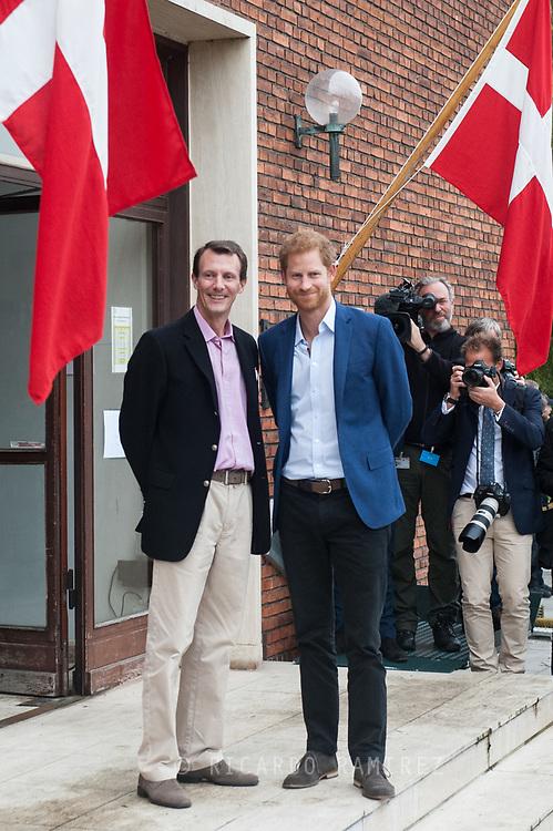 26.10.12017. Copenhagen, Denmark.  <br /> Prince Harry and Prince Joachim at the Danish Defence Centre for Military Physical Training in Copenhagen.<br /> Photo: © Ricardo Ramirez