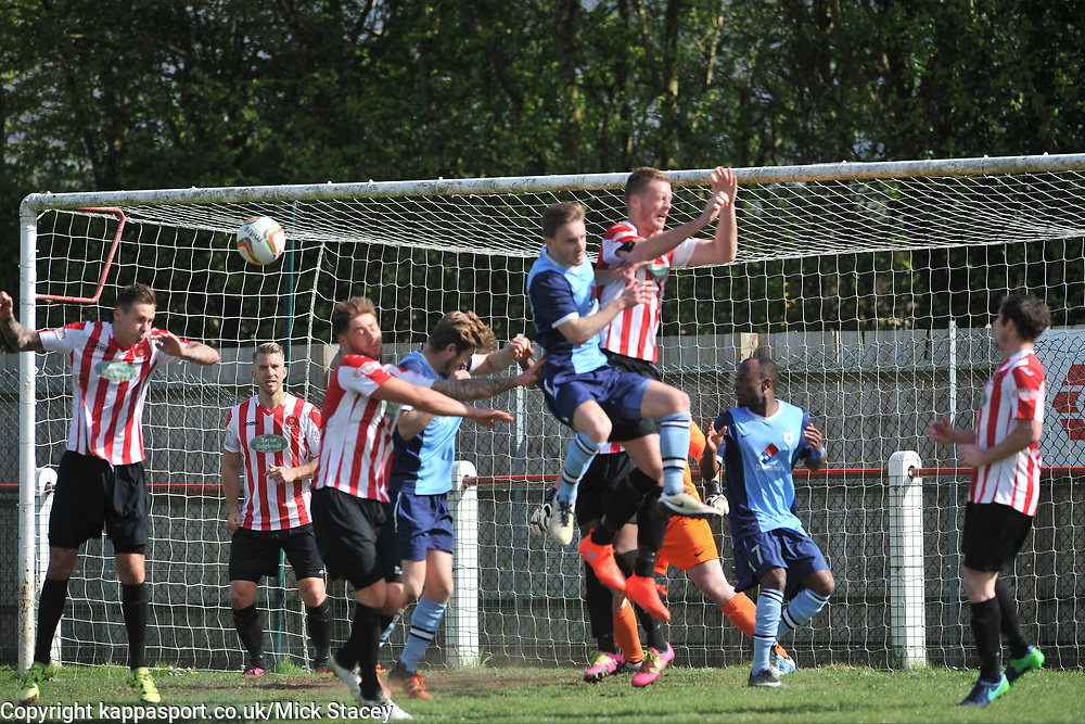 Kempston Rovers v Fleet Town, Evostick Southern League Central Saturday 15th April 2017. Score 3-1. Photo:Mike Capps