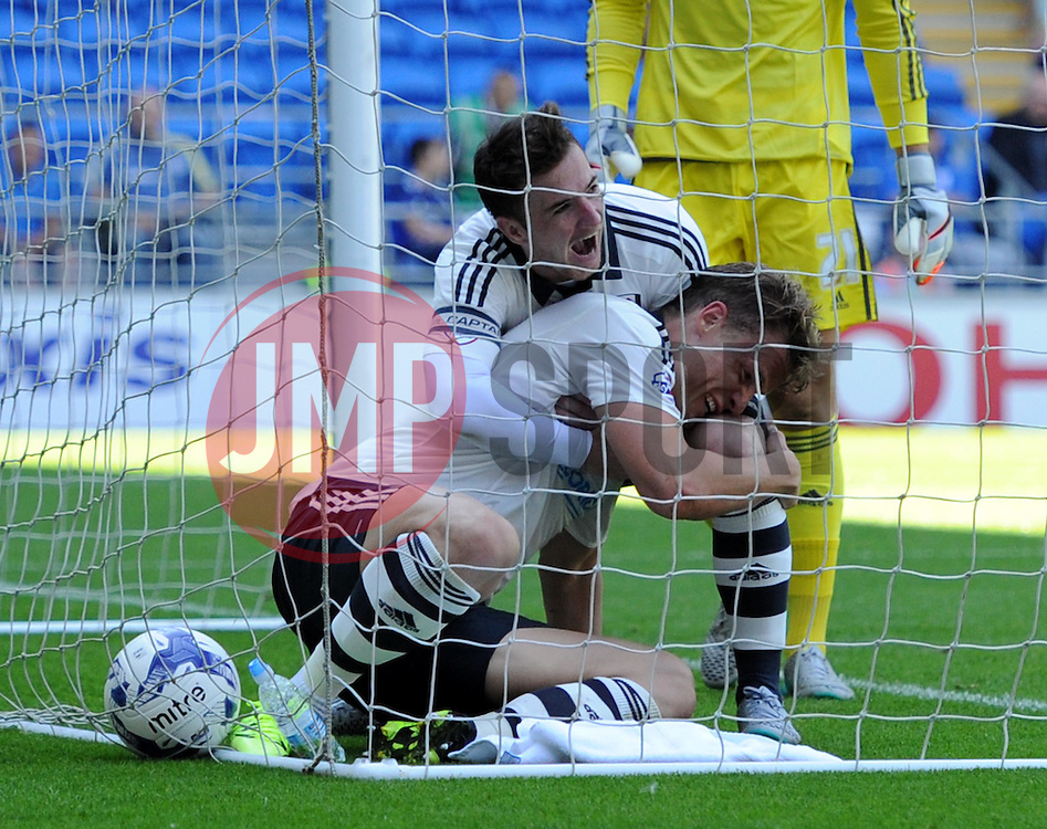 Matt Smith of Fulham celebrates his goal against Cardiff City - Mandatory by-line: Paul Knight/JMP - Mobile: 07966 386802 - 08/08/2015 -  FOOTBALL - Cardiff City Stadium - Cardiff, Wales -  Cardiff City v Fulham - Sky Bet Championship
