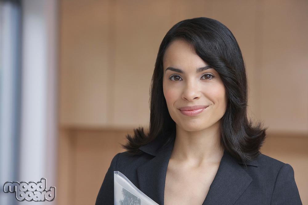 Female estate agent smiling portrait