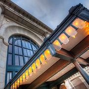 Close up of one of the entrances to Union Station, Kansas City, Missouri.