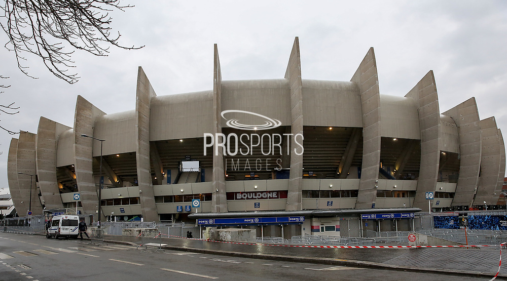 General view outside the Parc des Princes stadium ahead of the Champions League Round of 16 2nd leg match between Paris Saint-Germain and Manchester United at Parc des Princes, Paris, France on 6 March 2019.