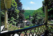 Image of the town of Jim Thorpe, Pennsylvania from the ASA Packer Mansion, American Northeast