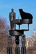 New York, New York City, Duke Ellington Memorial, Sculpture Robert Graham, 110 st and 5th Avene
